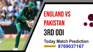 Eng vs Pak 3rd ODI Match 100% Sure Today Match Prediction Geniune Tips