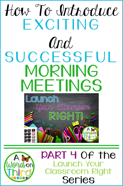 How To Introduce Exciting and Successful Morning Meetings by A Word On Third