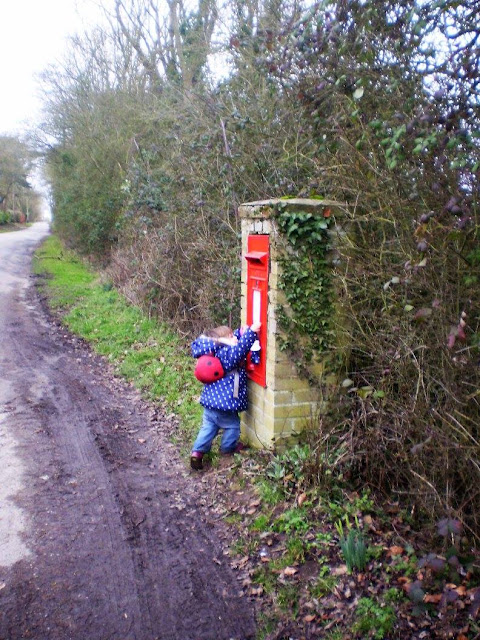 Eldest posting an imaginary letter