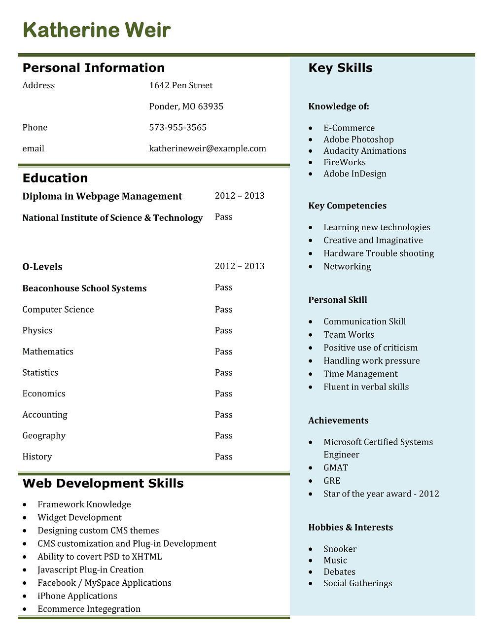 Resume help hobbies and interests Brefash