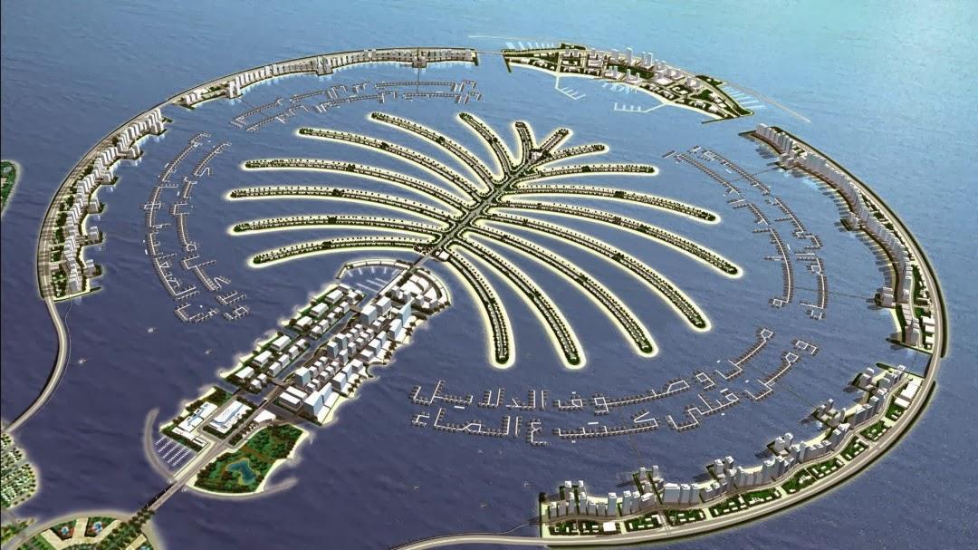 Palm Island, Dubai – Reklamasi yang terpisah dari daratan utama