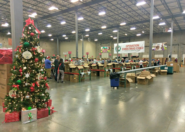 Operation Christmas Child Baltimore processing center