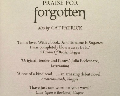 Quote in Revived by Cat Patrick