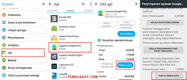 Cara Menghapus Akun Google Mail Di Android Lewat Clear Data Google Apps