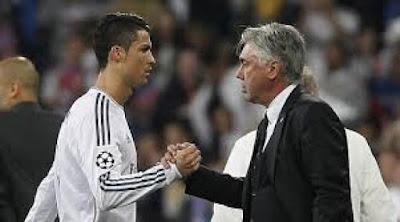 Ronaldo and Ancelotti