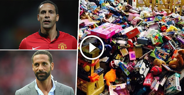 Wow! Famous Footballer Rio Ferdinand Donating £500,000 Toys To Poor Children This Christmas