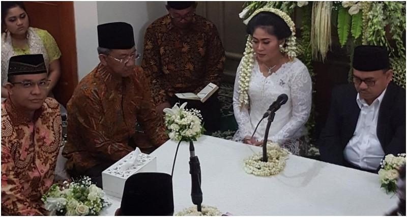 Anies Baswedan menjadi saksi pernikahan Sudirman Said dengan Astried Swastika