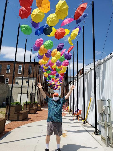 Anthony McCune, selfie, at Umbrella Alley, Louisville, Ohio