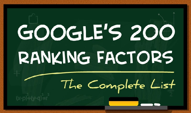 A Look at Google's 200 Search Ranking Factors #infographic