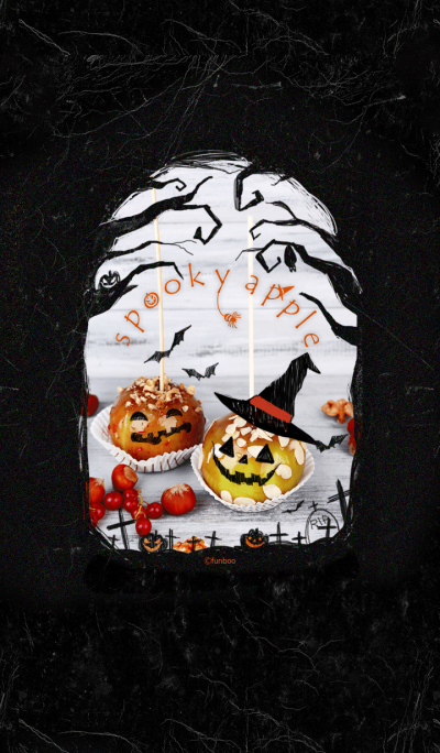 spooky apple - Halloween -