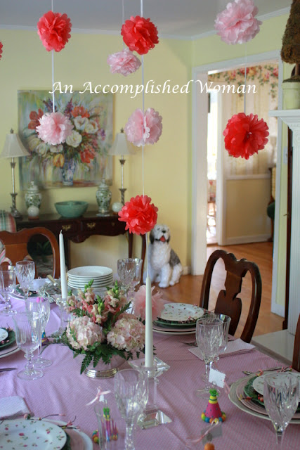 An Accomplished Woman A Pink Ruffly Birthday Tablescape