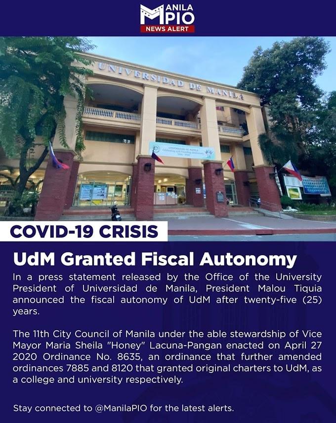 UdM Granted Fiscal Autonomy