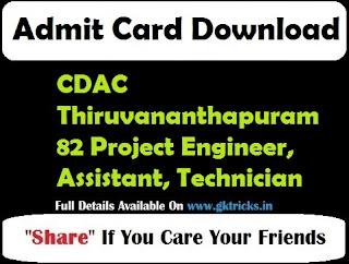 cdac admit card