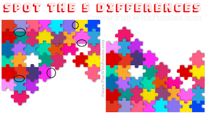 Answer of Spot the 5 Differences: Jigsaw Puzzle Game
