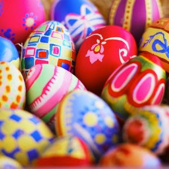 colorful sweet and awesome easter eggs