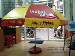 dù quảng cáo ngoài trời Vietjet
