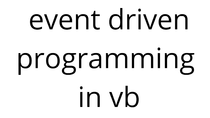 event driven programming in vb in hindi