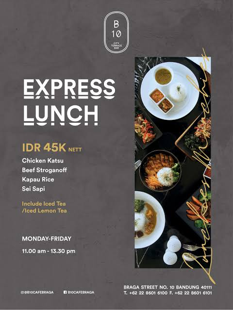 menu express lunch b10