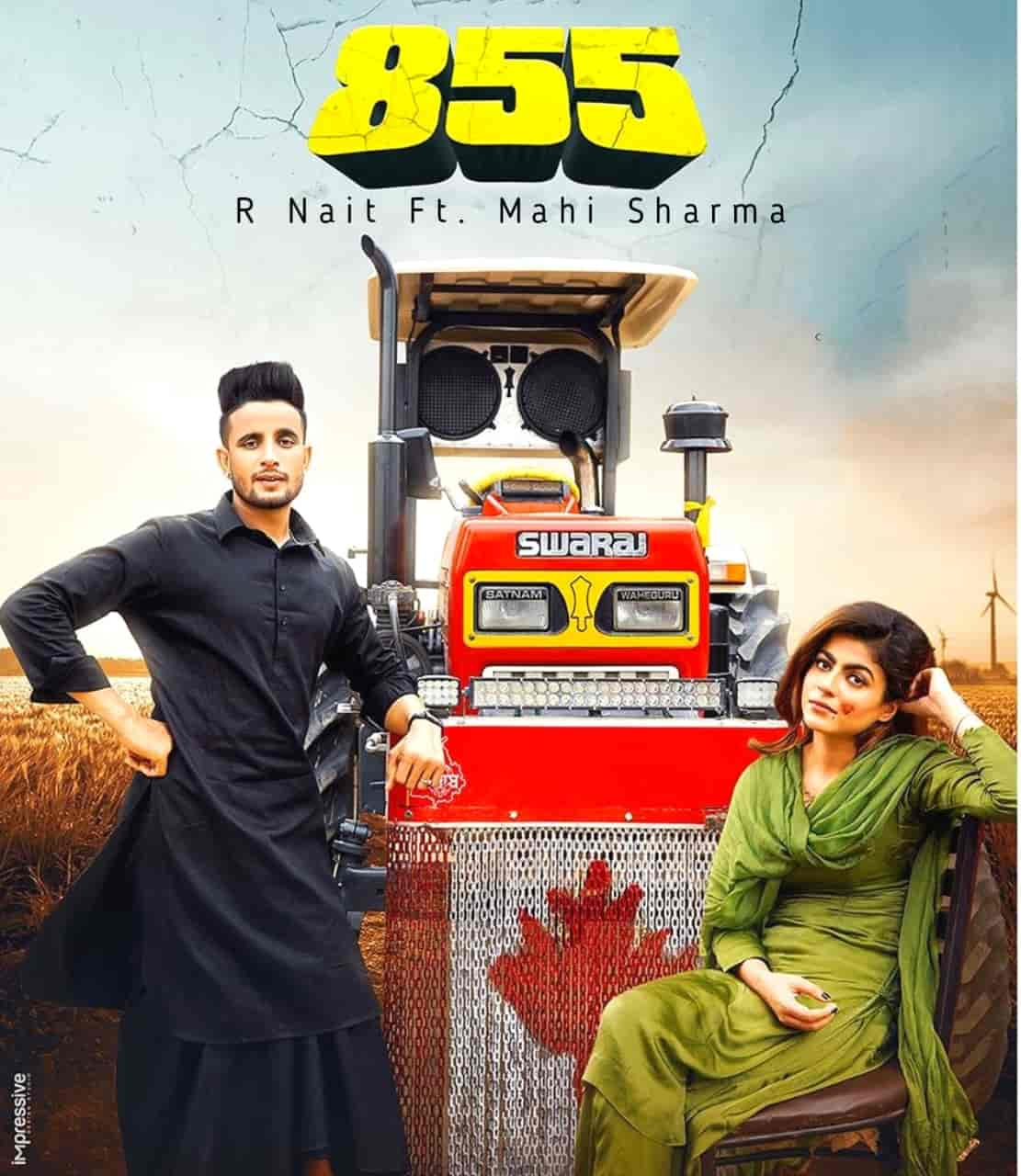 855 Punjabi Song Image Features R Nait and Mahi Sharma
