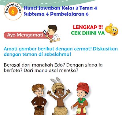Kunci Jawaban Kelas 3 Tema 4 Subtema 4 Pembelajaran 6 www.simplenews.me