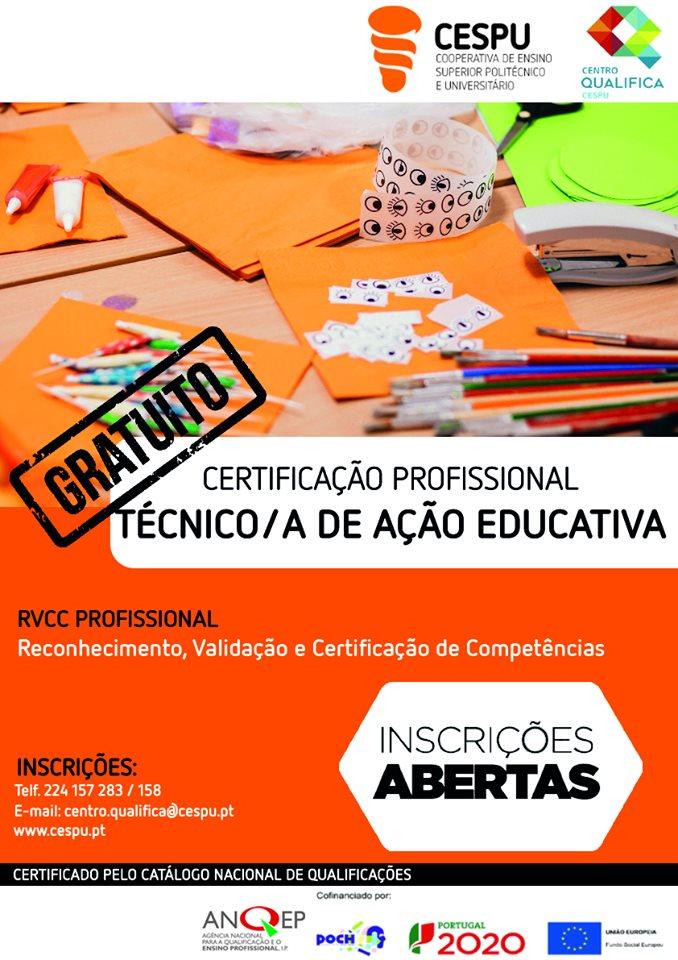 RVCC Gandra (Paredes) – Certificação profissional – Técnico/a de Ação Educativa