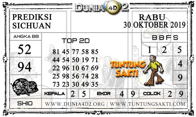 """Prediksi Togel """"SICHUAN"""" DUNIA4D2 30 OKTOBER 2019"""