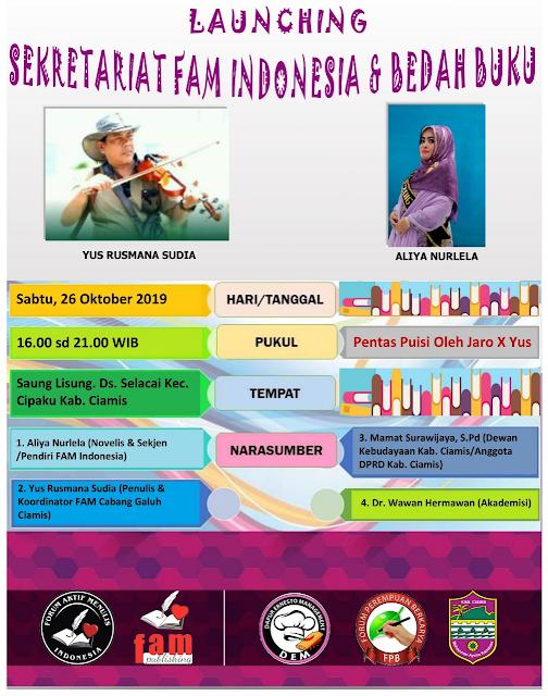 Launching Sekretariat FAM Indonesia & Bedah Buku