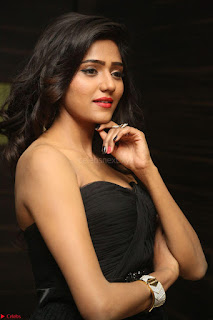 Shalu Chourasiya in spicy Sleeveless Strapless Black Top at O Pilla Nee Valla Movie Audio Launch Feb 2017 120.JPG