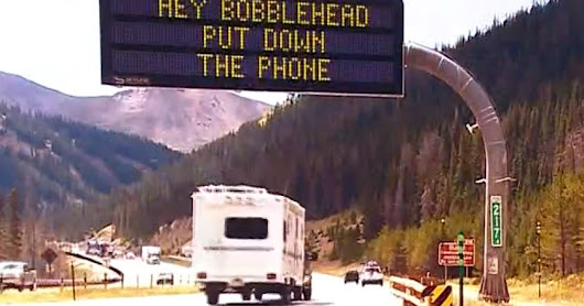 CDOT's comical signs have a serious message