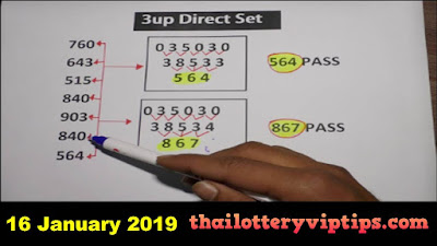 Thailand lottery Facebook 3up super tip exclusive 16 January 2019
