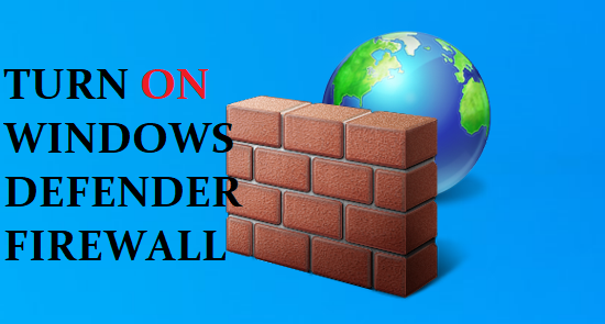 Enable and Disable Windows Firewall.