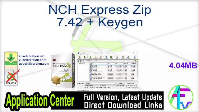NCH Express Zip 7.42 + Keygen