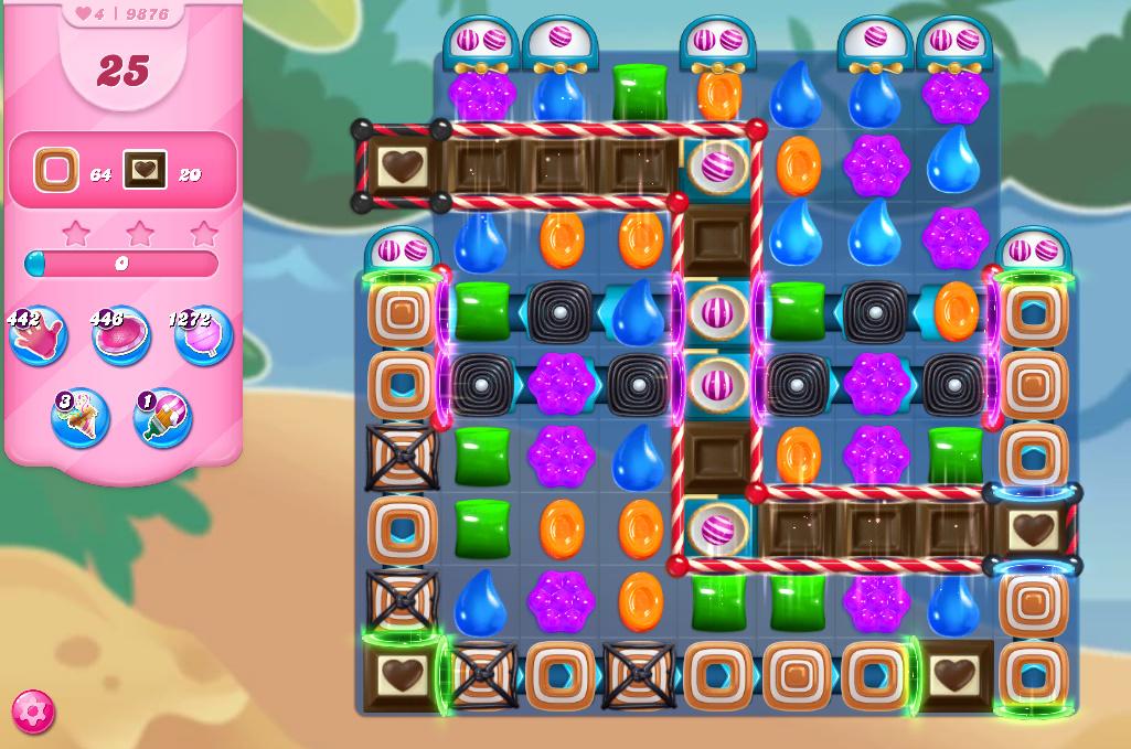 Candy Crush Saga level 9876