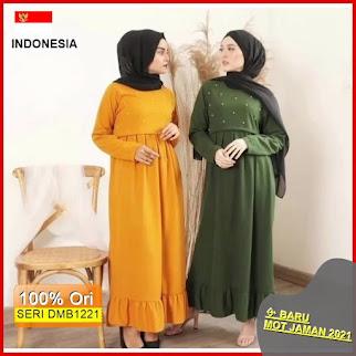 Dmb1221 Dress Wanita 1 Kg 3 Pcs Amira Dress Pearl Dress Muslimah Fashion Mutiara