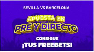 Mondobets promo liga Sevilla vs Barcelona 11-9-21