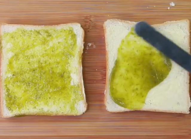green chutney on toast