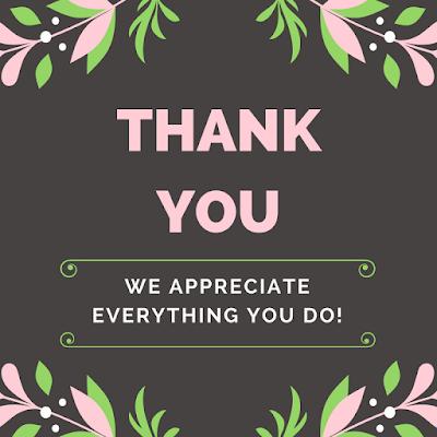 volunteer appreciation thank you