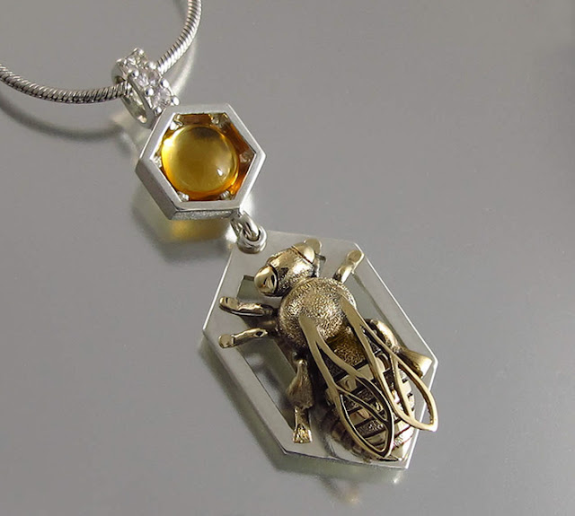 handmade honeycomb jewelry