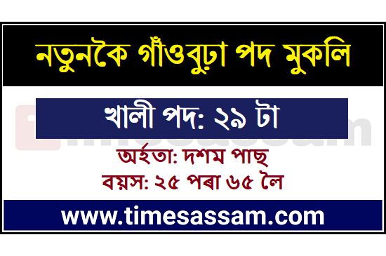 DC Office Sonitpur Job 2020