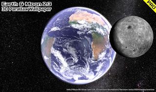 تحميل تطبيق Earth & Moon in HD Gyro 3D PRO Parallax Wallpaper_2.7.apk
