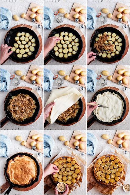 Tarte tatin aux pommes de terre