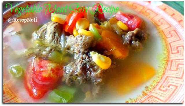 vegetable meat stew recipe at kusNeti kitchen