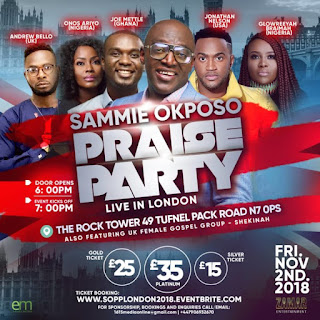 Sammie Okposo Praise Party Sets To Hit London This November!