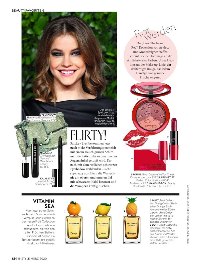 Barbara Palvin Featured in Instyle Magazine-  Germany March 2020
