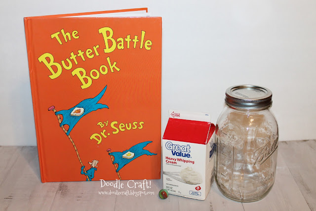 Make butter while reading The Butter Battle Book