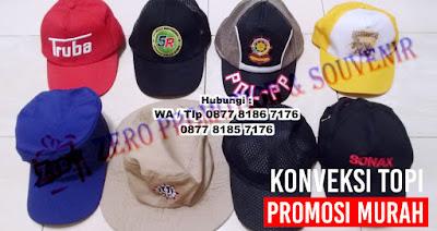 Tempat produksi topi, topi bordir logo, Topi Promosi Harga Murah dengan Bordir atau Sablon Logo