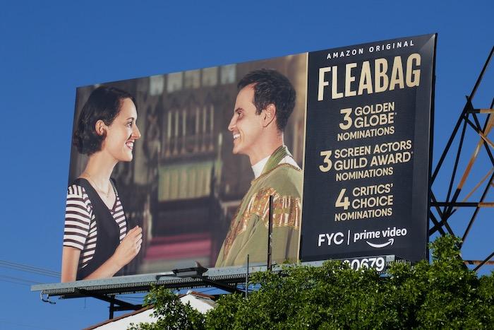 Fleabag season 2 Golden Globe nominee billboard