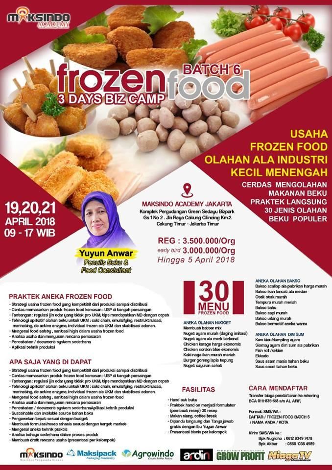 Cerdas Mengelola Usaha Frozen Food Popular Yuyun Anwar Penulis Buku Dan Konsultan Kuliner Pangan Konsultasi Sms 08176456368 Ig Yuyun Anwar Yuyunanwar Com