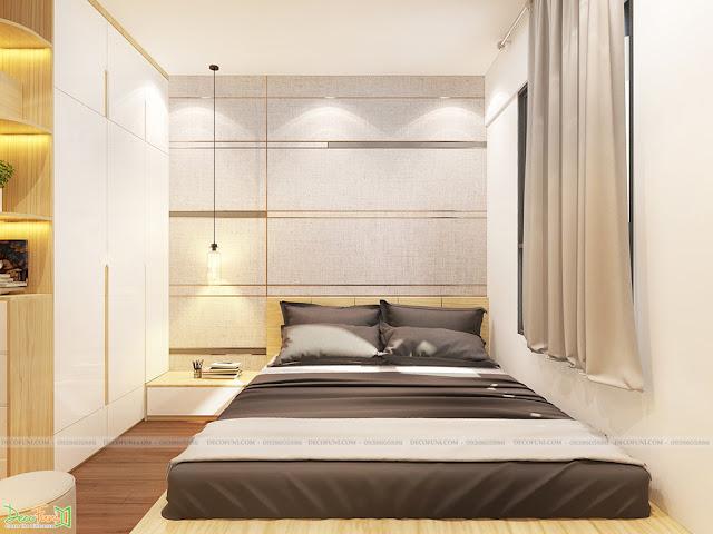 Thiết kế và thi công hoàn thiện nội thất căn hộ chung cư Dreamhome Riverside Quận 8 - Phòng Master
