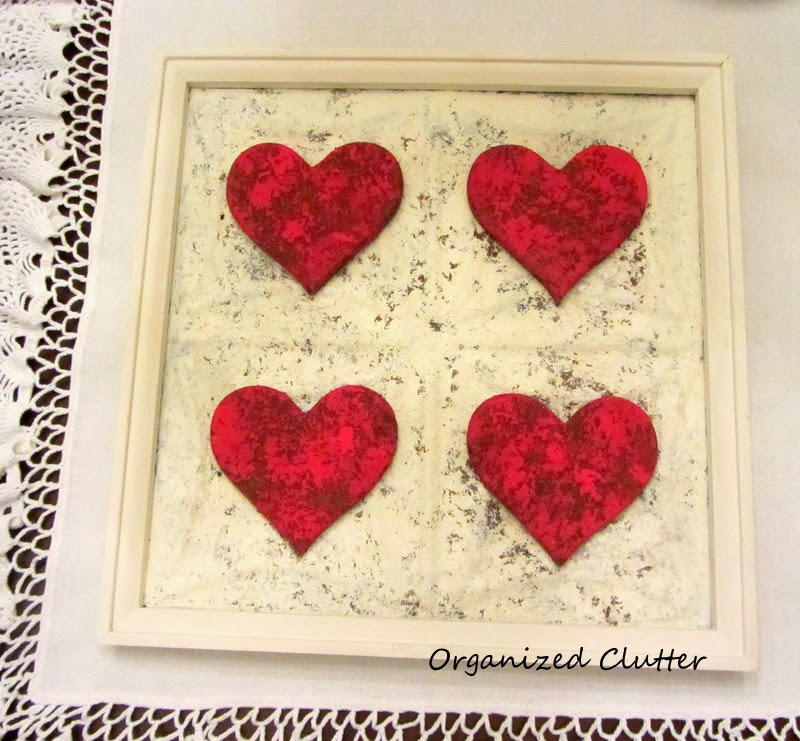Upcycling a Thrift Shop Frame for Valentine's Day www.organizedclutterqueen.blogspot.com